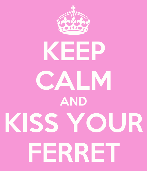 KEEP CALM AND KISS YOUR FERRET