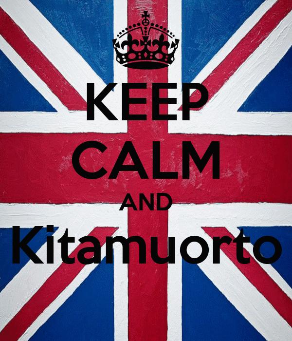 KEEP CALM AND Kitamuorto