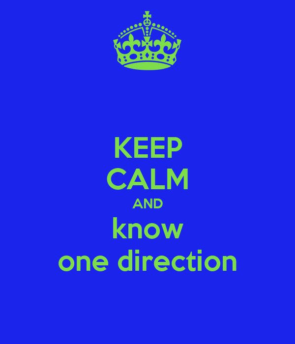 KEEP CALM AND know one direction