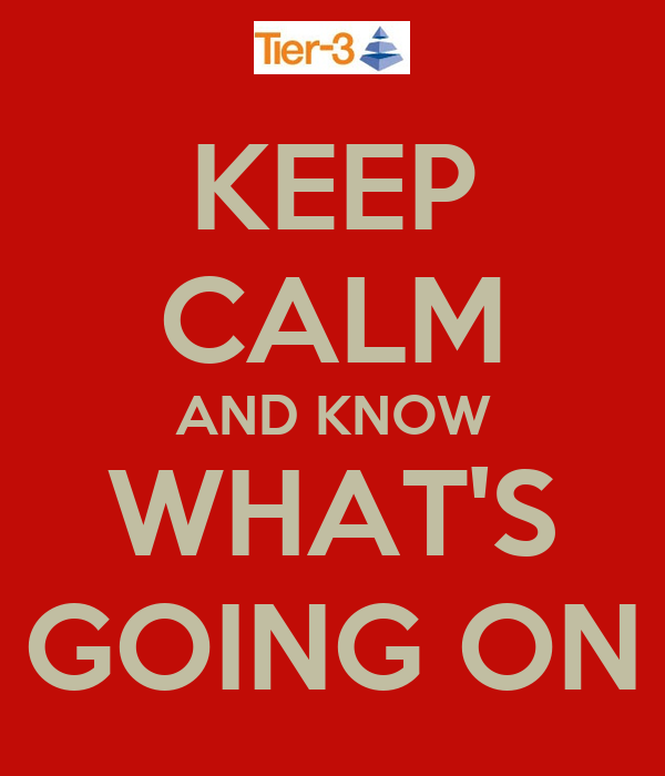 KEEP CALM AND KNOW WHAT'S GOING ON