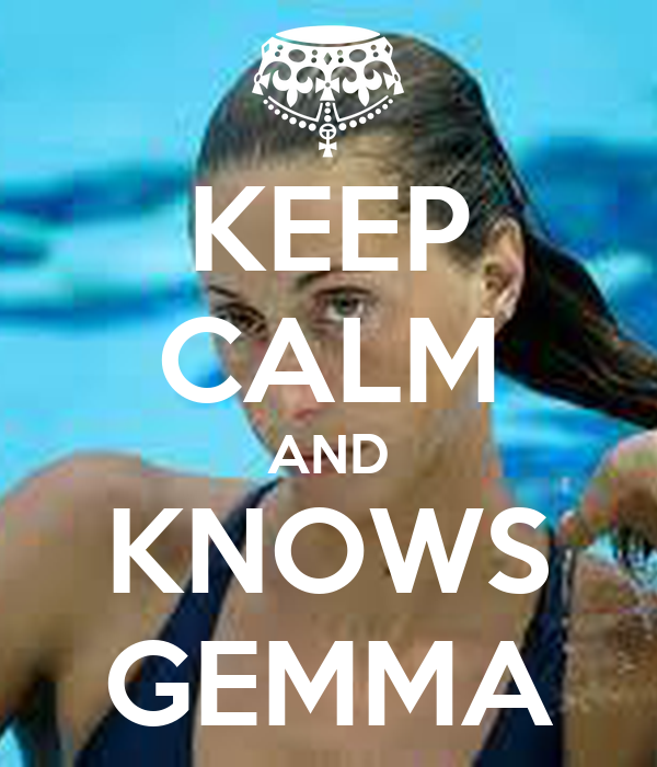 KEEP CALM AND KNOWS GEMMA