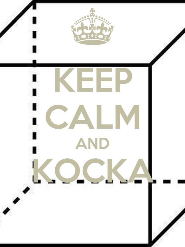 KEEP CALM AND KOCKA