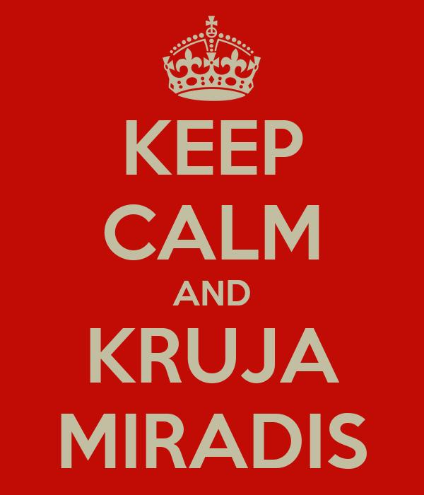 KEEP CALM AND KRUJA MIRADIS