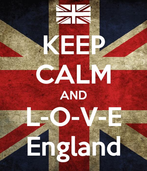 KEEP CALM AND L-O-V-E England