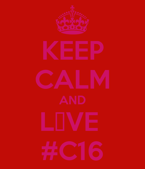 KEEP CALM AND L♥VE  #C16