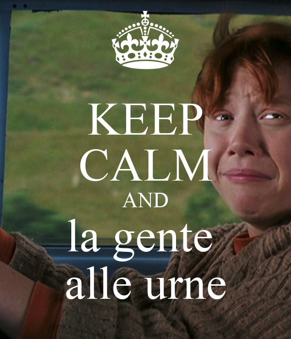 KEEP CALM AND la gente  alle urne
