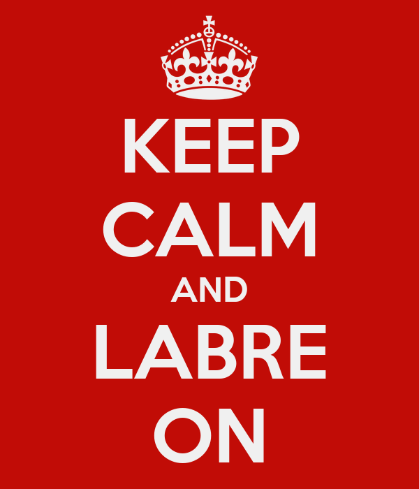 KEEP CALM AND LABRE ON