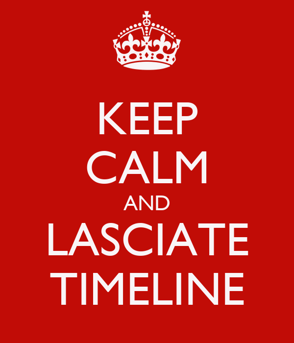 KEEP CALM AND LASCIATE TIMELINE