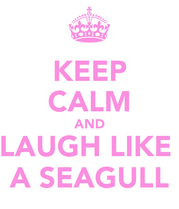 KEEP CALM AND LAUGH LIKE  A SEAGULL