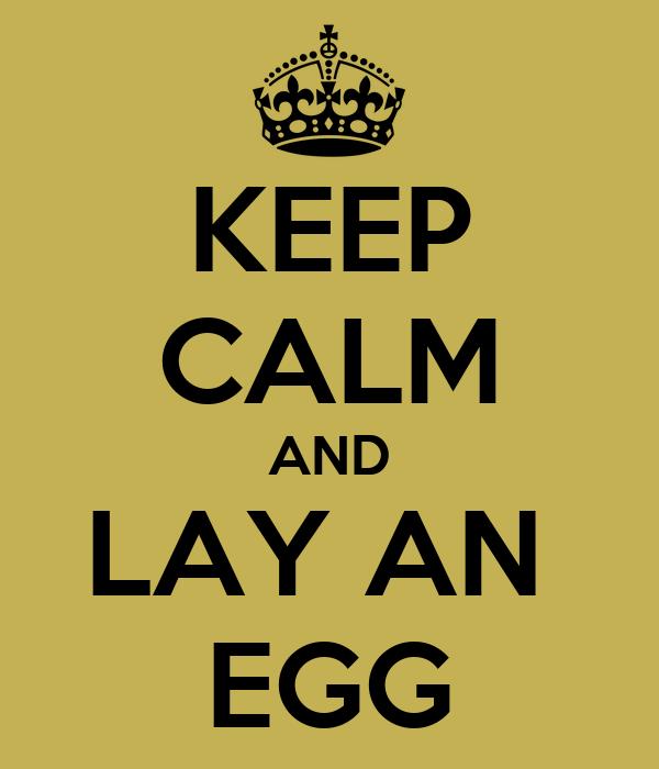 KEEP CALM AND LAY AN  EGG