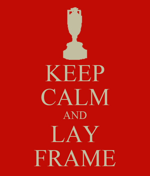 KEEP CALM AND LAY FRAME