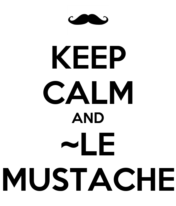 KEEP CALM AND ~LE MUSTACHE
