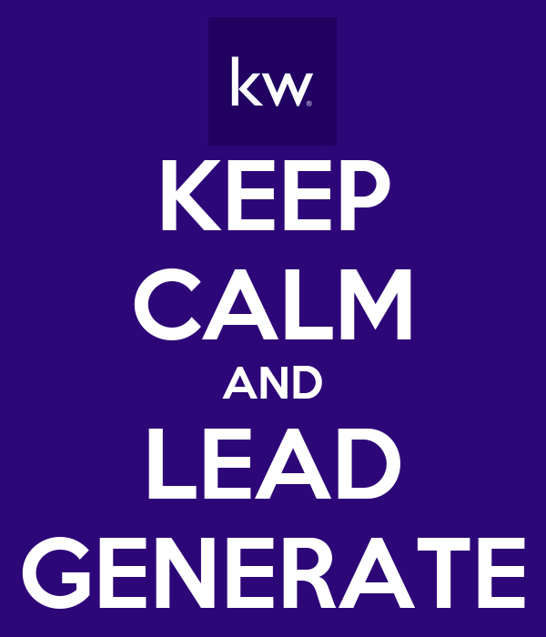 KEEP CALM AND LEAD GENERATE