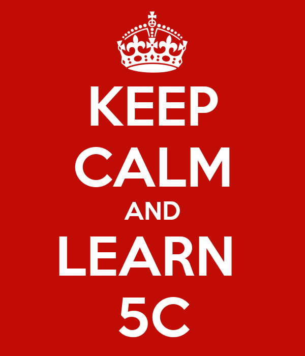 KEEP CALM AND LEARN  5C