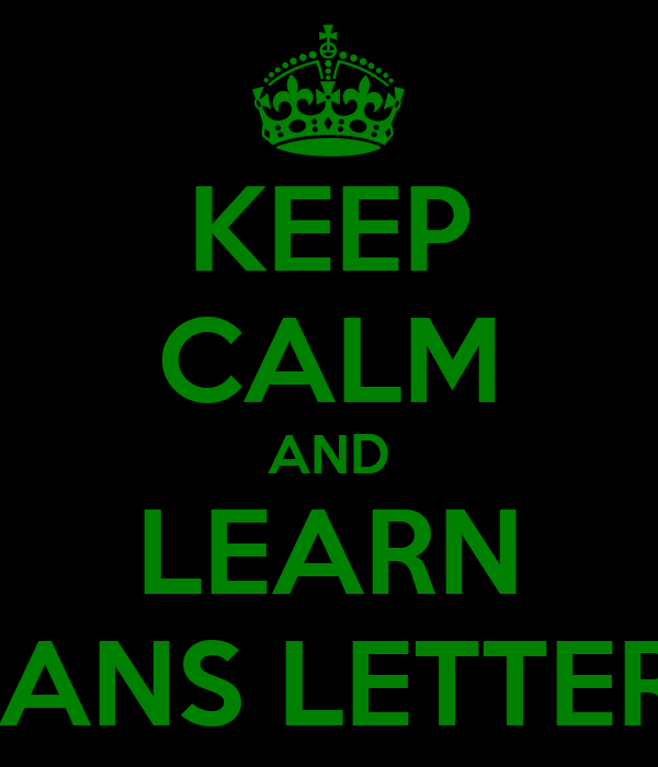 KEEP CALM AND LEARN AFRIKAANS LETTERKUNDE