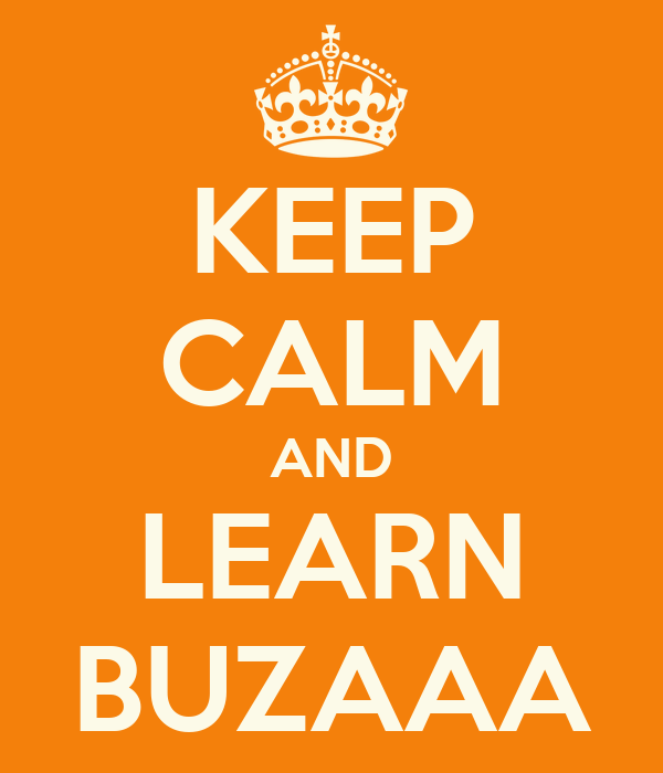 KEEP CALM AND LEARN BUZAAA