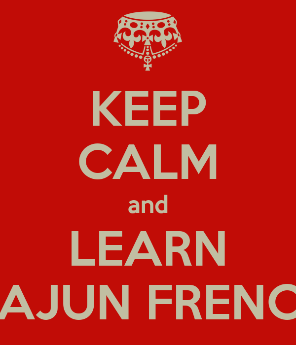 how to say cajun in french