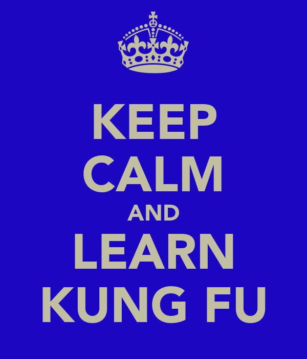 KEEP CALM AND LEARN KUNG FU