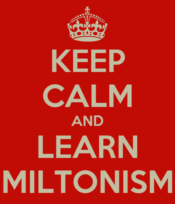 KEEP CALM AND LEARN MILTONISM