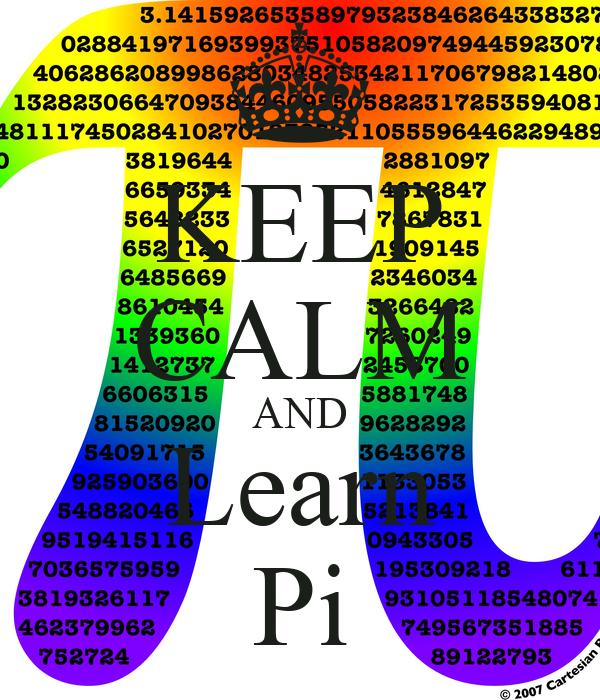 KEEP CALM AND Learn Pi