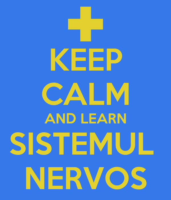 KEEP CALM AND LEARN SISTEMUL  NERVOS