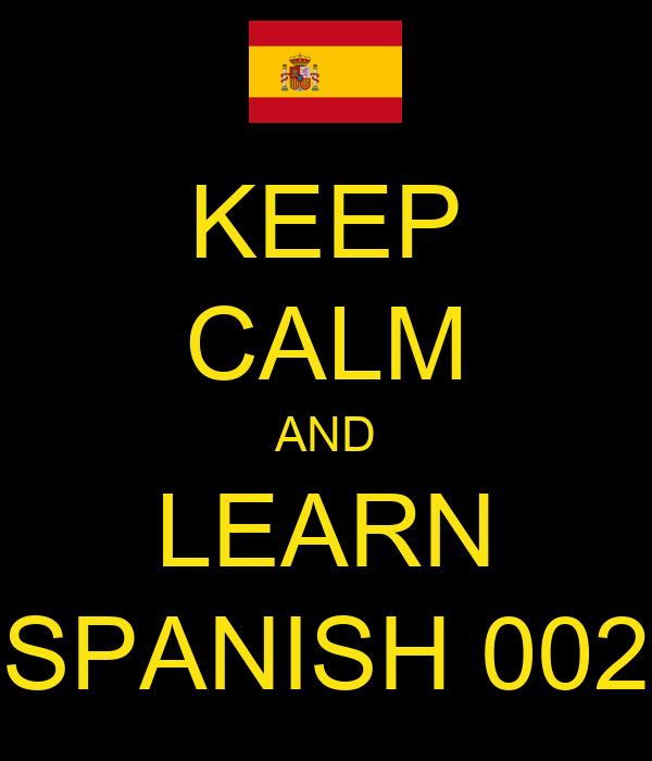 KEEP CALM AND LEARN SPANISH 002