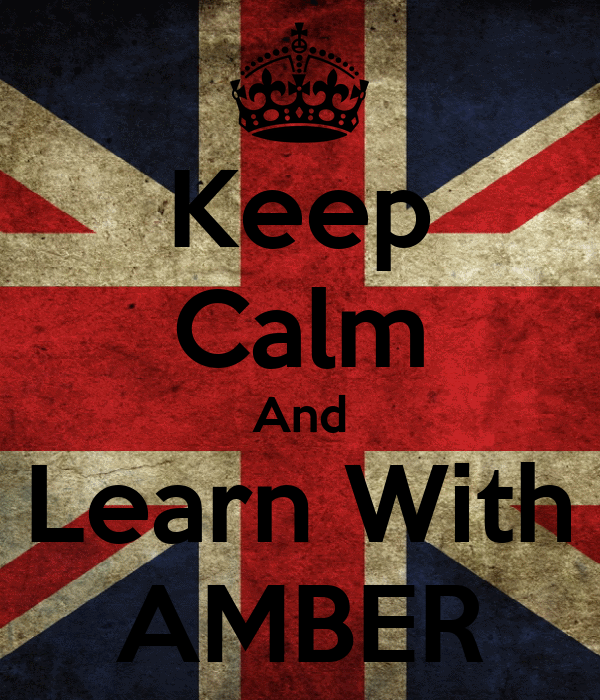 Keep Calm And Learn With AMBER