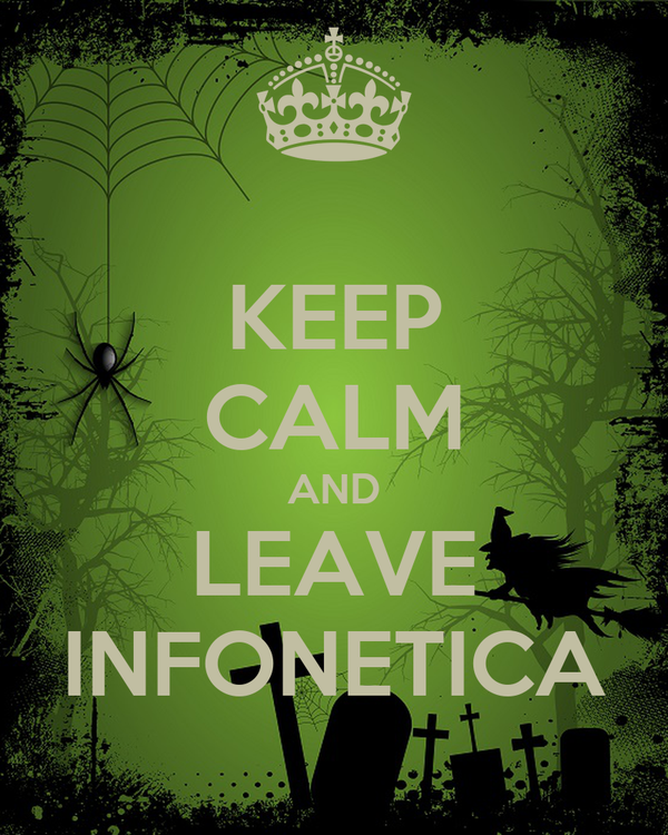 KEEP CALM AND LEAVE INFONETICA