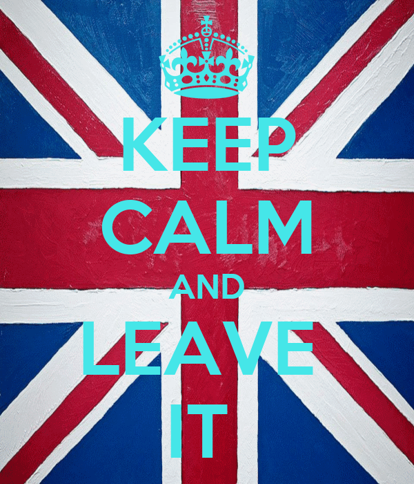 KEEP CALM AND LEAVE  IT
