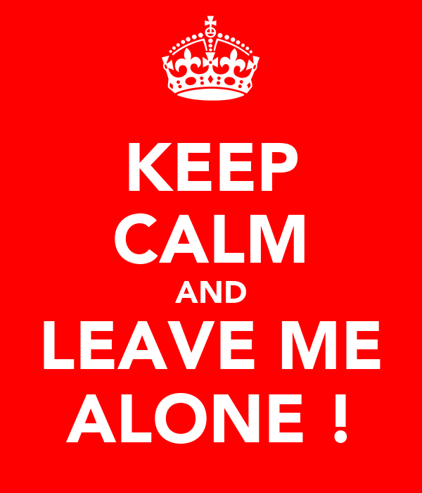 KEEP CALM AND LEAVE ME ALONE !