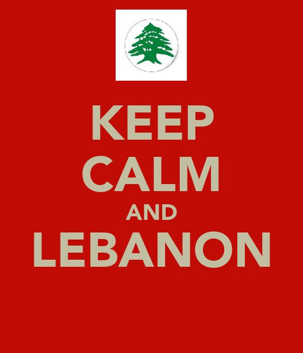 KEEP CALM AND LEBANON