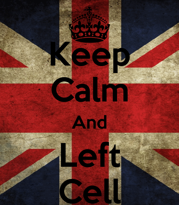 Keep Calm And Left Cell