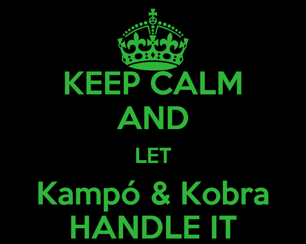 KEEP CALM AND LET Kampó & Kobra HANDLE IT