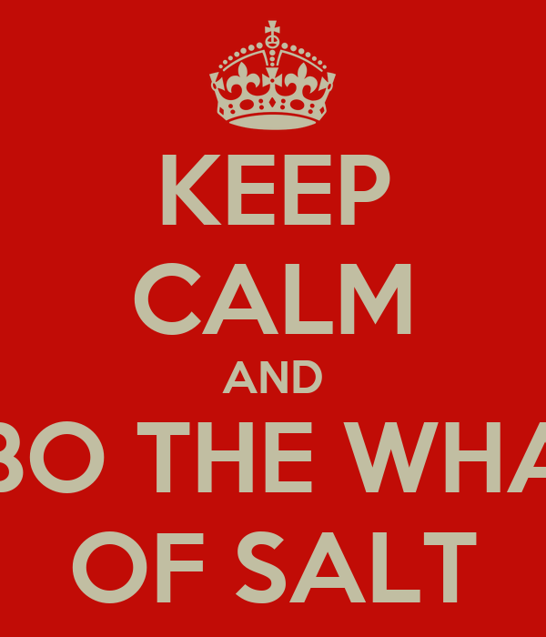 KEEP CALM AND LET LUBO THE WHALE DIO OF SALT