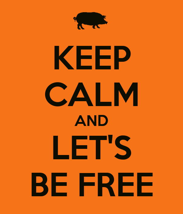 KEEP CALM AND LET'S BE FREE