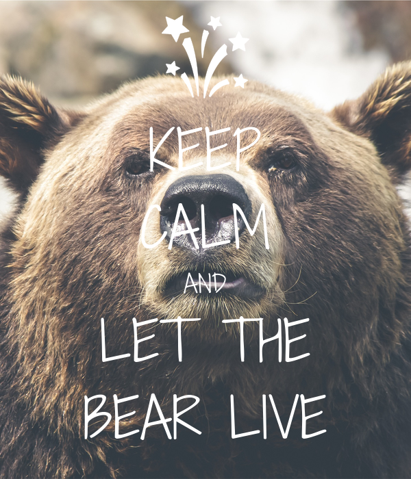 KEEP CALM AND LET THE BEAR LIVE