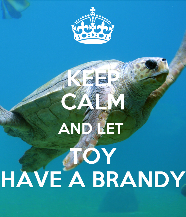 KEEP CALM AND LET  TOY HAVE A BRANDY