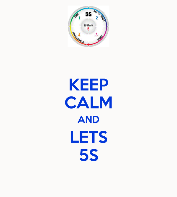 KEEP CALM AND LETS 5S