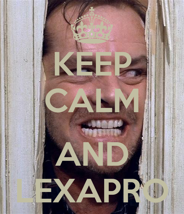 KEEP CALM  AND LEXAPRO