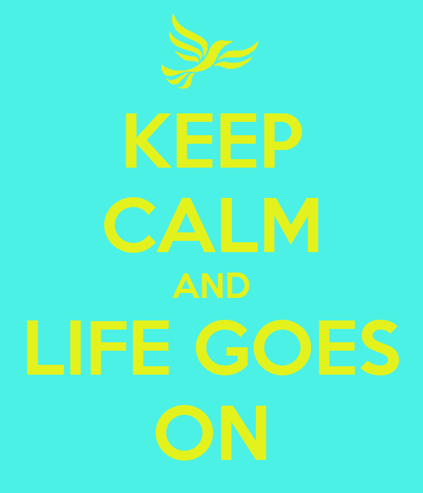 KEEP CALM AND LIFE GOES ON