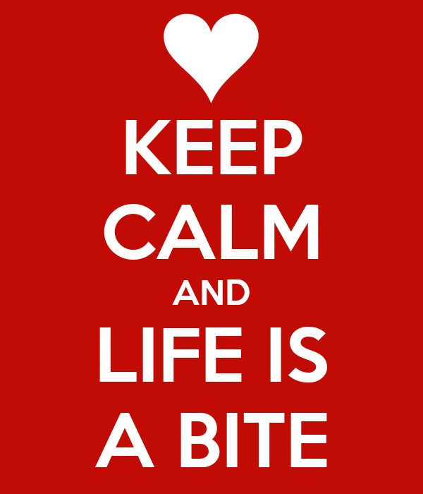 KEEP CALM AND LIFE IS A BITE