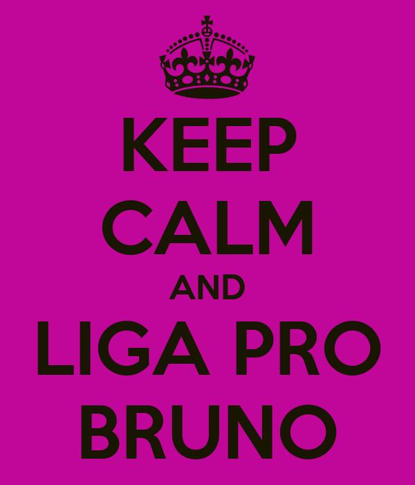 KEEP CALM AND LIGA PRO BRUNO