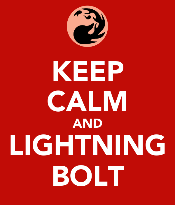 KEEP CALM AND LIGHTNING BOLT
