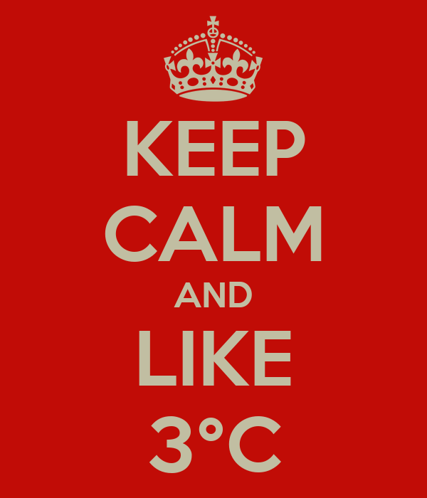 KEEP CALM AND LIKE 3°C