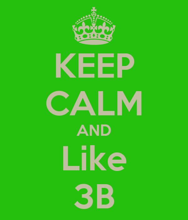 KEEP CALM AND Like 3B