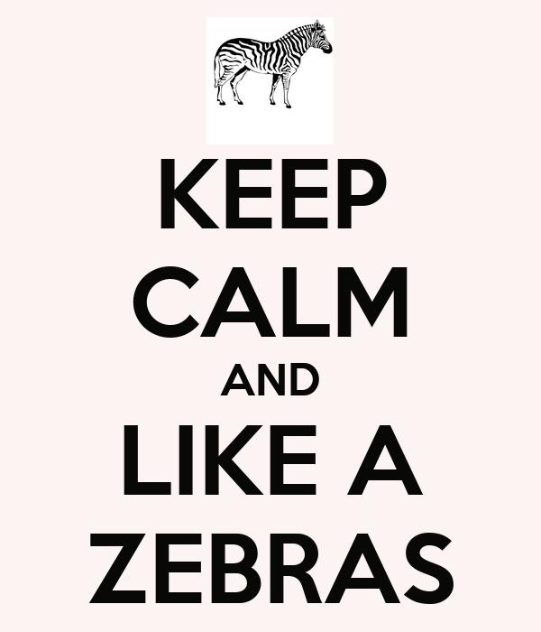 KEEP CALM AND LIKE A ZEBRAS