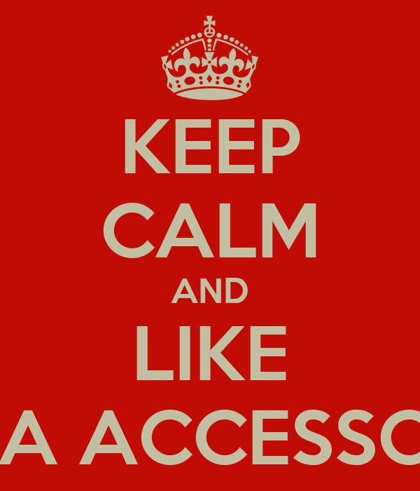 KEEP CALM AND LIKE ADDA ACCESSORIES