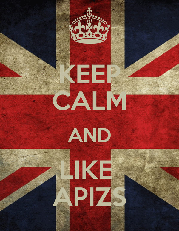 KEEP CALM AND LIKE  APIZS