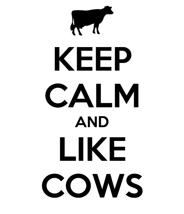 KEEP CALM AND LIKE COWS