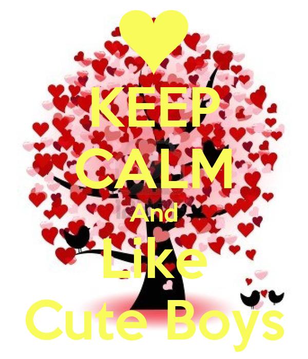 KEEP CALM And Like Cute Boys